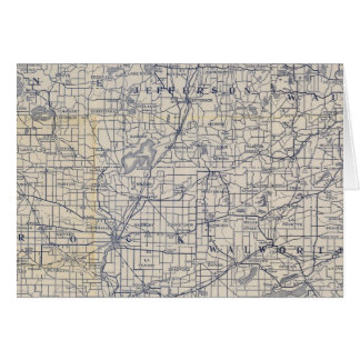 Mapa de camino de la bicicleta de Wisconsin 7 Tarjetón
