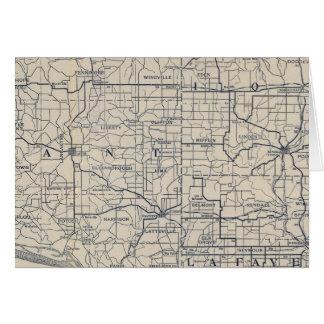 Mapa de camino de la bicicleta de Wisconsin 8 Felicitacion