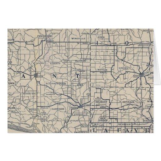Mapa de camino de la bicicleta de Wisconsin 8 Tarjeta De Felicitación