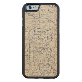 Mapa de camino de la bicicleta de Wisconsin Funda De iPhone 6 Bumper Arce