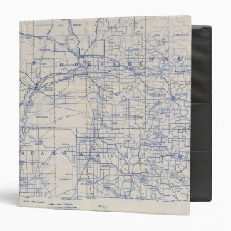 "Mapa de camino de la bicicleta de Wisconsin Carpeta 1 1/2"""