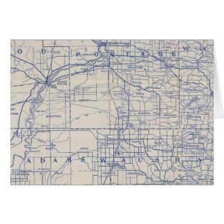 Mapa de camino de la bicicleta de Wisconsin Tarjetón