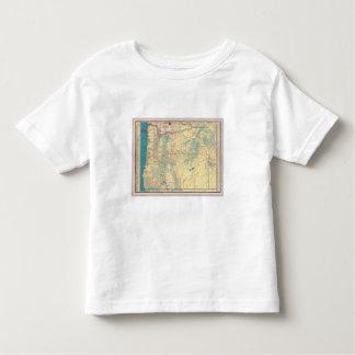 Mapa de camino de los Estados Occidentales Camisetas