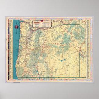 Mapa de camino de los Estados Occidentales Póster