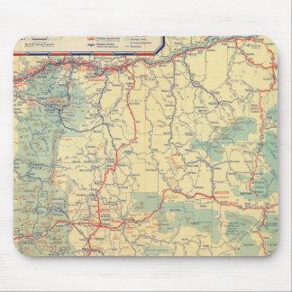 Mapa de camino de los Estados Occidentales Alfombrilla De Ratones