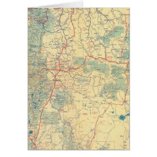 Mapa de camino de los Estados Occidentales Tarjeta De Felicitación