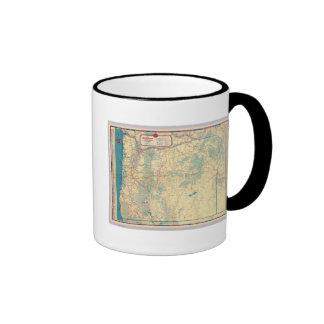 Mapa de camino de los Estados Occidentales Taza De Café