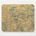 Mapa de camino de Minnesota Alfombrilla De Ratones