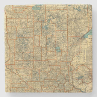Mapa de camino de Minnesota Posavasos De Piedra