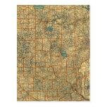 Mapa de camino de Minnesota Postal