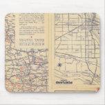Mapa de camino de Oregon Alfombrilla De Raton