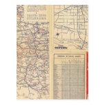 Mapa de camino de Oregon Tarjetas Postales