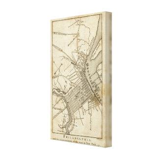 Mapa de camino de Philadelphia Impresiones En Lona