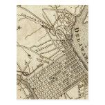 Mapa de camino de Philadelphia Postales