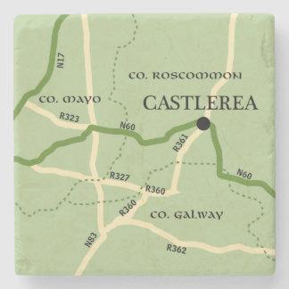 Mapa de camino de Roscommon Irlanda del condado de Posavasos De Piedra