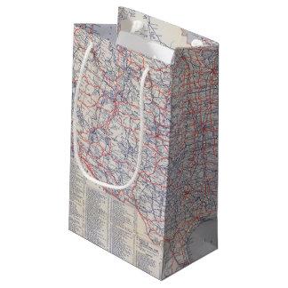 Mapa de camino Estados Unidos Bolsa De Regalo Pequeña