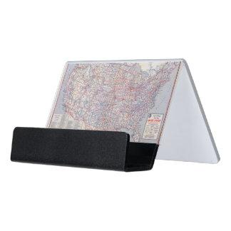 Mapa de camino Estados Unidos Caja De Tarjetas De Visita Para Escritorio