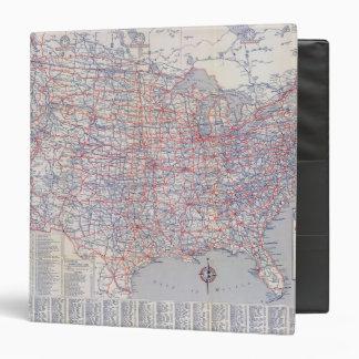"Mapa de camino Estados Unidos Carpeta 1 1/2"""