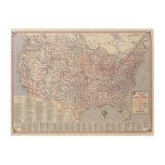 Mapa de camino Estados Unidos Cuadro De Madera