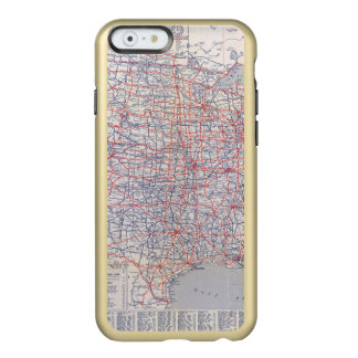 Mapa de camino Estados Unidos Funda Para iPhone 6 Plus Incipio Feather Shine