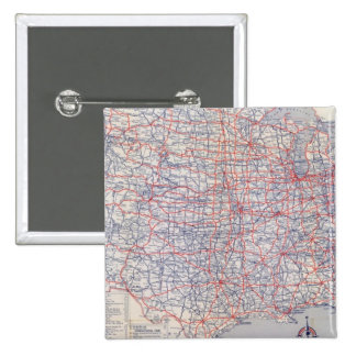 Mapa de camino Estados Unidos Pin Cuadrada 5 Cm