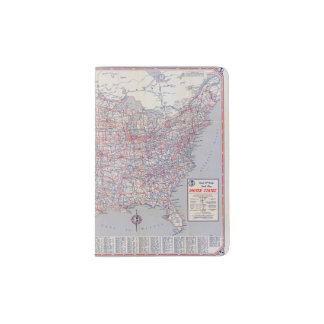 Mapa de camino Estados Unidos Porta Pasaporte
