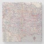 Mapa de camino Estados Unidos Posavasos De Piedra