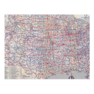 Mapa de camino Estados Unidos Postal