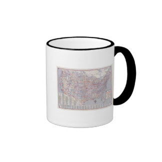 Mapa de camino Estados Unidos Taza