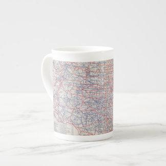 Mapa de camino Estados Unidos Taza De Porcelana