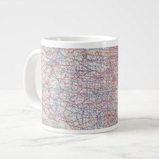 Mapa de camino Estados Unidos Tazas Extra Grande