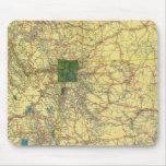 Mapa de camino Idaho, Mont, mapa de Wyo Alfombrillas De Ratones