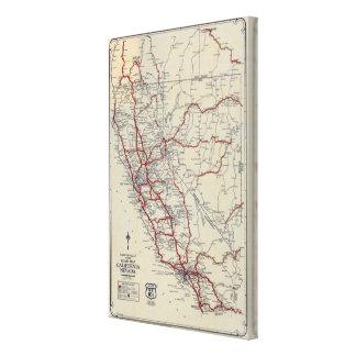 Mapa de camino menor de McNally del rand Californi Impresion De Lienzo