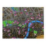 Mapa de camino metropolitano de Londres Postal