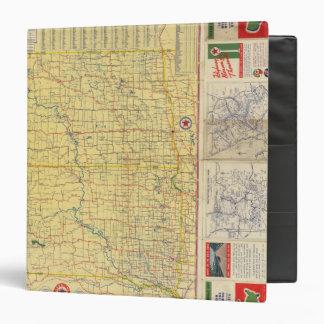 """Mapa de camino N y S Dakota Carpeta 1 1/2"""""""