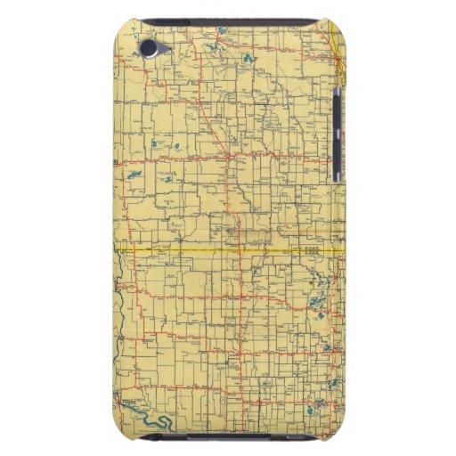 Mapa de camino N y S Dakota iPod Touch Carcasas