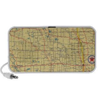 Mapa de camino N y S Dakota Laptop Altavoces