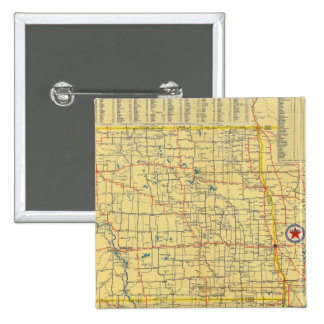 Mapa de camino N y S Dakota Pins