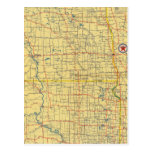 Mapa de camino N y S Dakota Postal