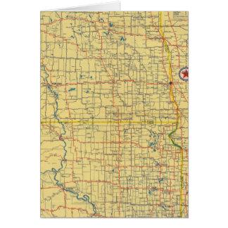 Mapa de camino N y S Dakota Tarjeton
