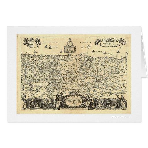 Mapa de Canaan la tierra de la promesa por Moxon Tarjeta De Felicitación
