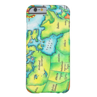 Mapa de Canadá 2 Funda Barely There iPhone 6