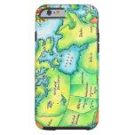 Mapa de Canadá 2 Funda De iPhone 6 Tough