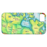 Mapa de Canadá 2 iPhone 5 Fundas