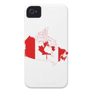 MAPA DE CANADÁ iPhone 4 Case-Mate PROTECTORES