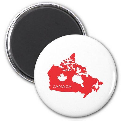 Mapa de Canadá Iman