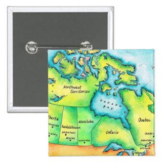 Mapa de Canadá Pins