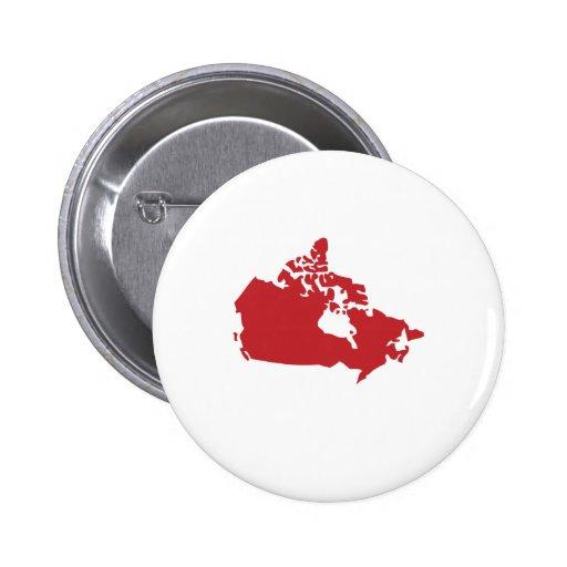 Mapa de Canadá Pin