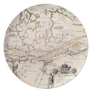 Mapa de Canadá Plato
