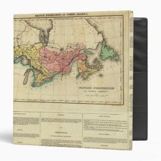 """Mapa de Canadá superior y más bajo Carpeta 1 1/2"""""""